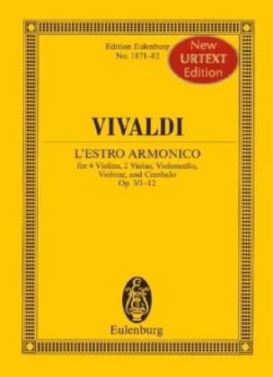 L' Estro Armonico Opus 3 N° 1/12 - VIVALDI - laflutedepan.com