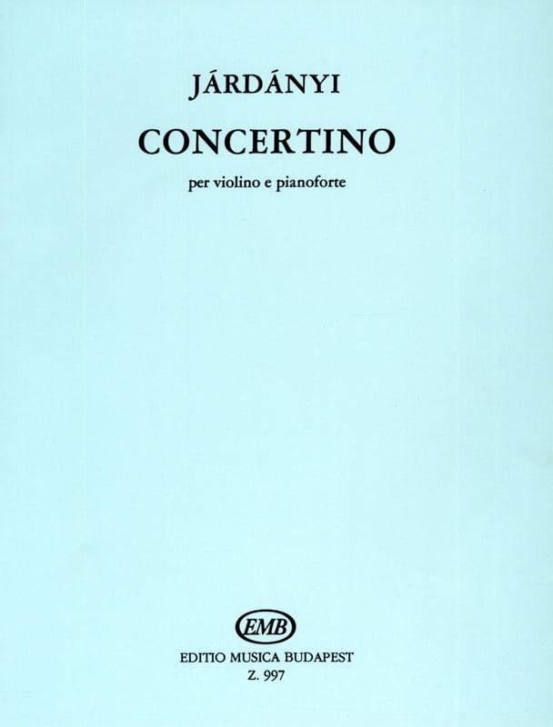 Concertino - Pal Jardanyi - Partition - Violon - laflutedepan.com
