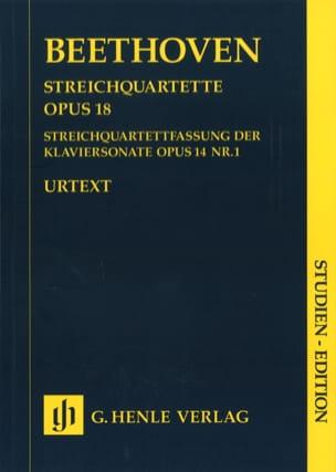 BEETHOVEN - String quartets op. 18 No 1-6 - Partition - di-arezzo.com