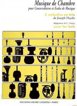2 Mélodies en trio - Bois HAYDN Partition Trios - laflutedepan