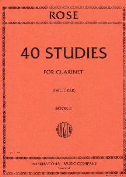 40 Studies - Volume 2 Cyrille Rose Partition Clarinette - laflutedepan