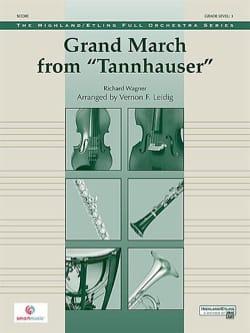 Grand March Tannhauser - score & parts WAGNER Partition laflutedepan