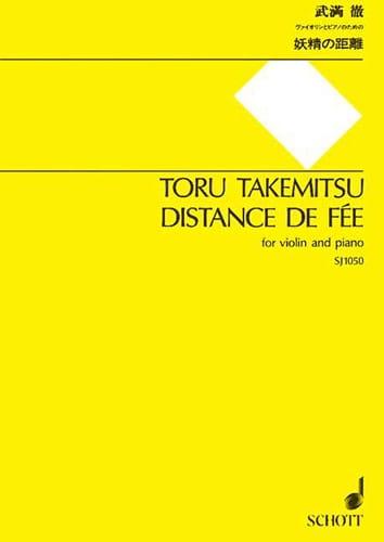 Distance de Fée - TAKEMITSU - Partition - Violon - laflutedepan.com