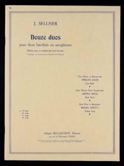 12 Duos - 1ère Suite Joseph Sellner Partition Hautbois - laflutedepan
