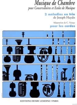 2 Mélodies en trio - Cordes HAYDN Partition Trios - laflutedepan