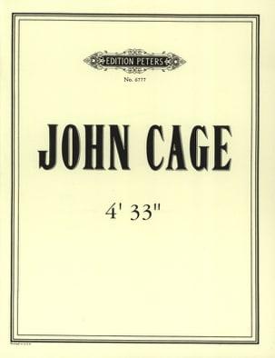 4'33'' CAGE Partition Grand format - laflutedepan