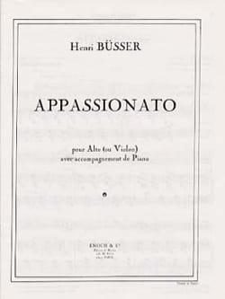 Appassionato - Opus 34 Henri Büsser Partition Alto - laflutedepan