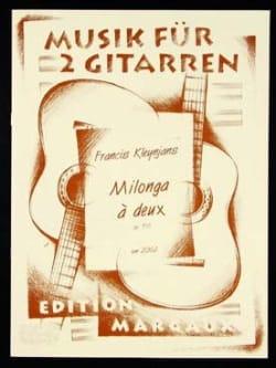 Milonga à deux op. 156 Francis Kleynjans Partition laflutedepan