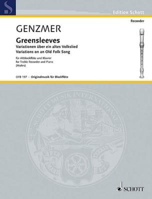 Greensleeves Harald Genzmer Partition Flûte à bec - laflutedepan