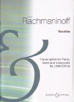 Vocalise RACHMANINOV Partition Trios - laflutedepan