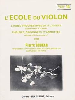 Pierre Doukan - El volumen 14 de la escuela de violín - Partition - di-arezzo.es