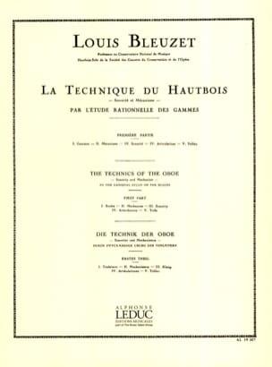 La Technique du Hautbois Volume 1 Louis Bleuzet Partition laflutedepan