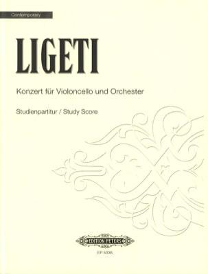 Konzert für Violoncello und Orchester - Partitur LIGETI laflutedepan