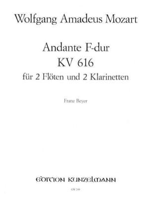 Andante F-Dur KV 616 -2 Flöten 2 Klarinetten MOZART laflutedepan