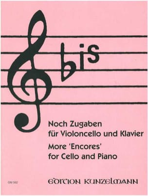Bis : Noch Zugaben - Cello Werner Thomas-Mifune Partition laflutedepan