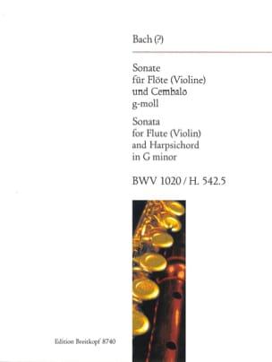 Sonate G-Moll BWV 1020 - Flûte et Cembalo BACH Partition laflutedepan