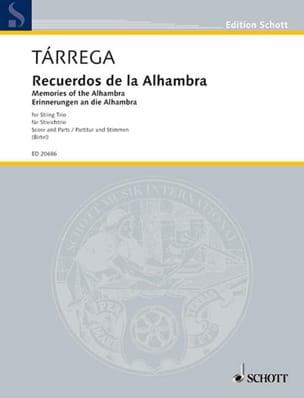 Recuerdos de la Alhambra TARREGA Partition Trios - laflutedepan