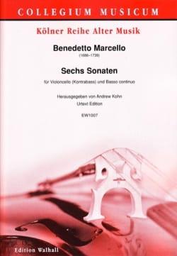 Benedetto Marcello - 6 Sonatas - Cello and BC - Partition - di-arezzo.co.uk