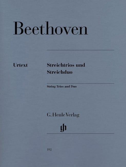 Trios à cordes op. 3, 8 et 9 et duo à cordes WoO 32 - laflutedepan.com