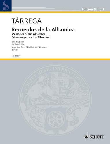 Recuerdos de la Alhambra - TARREGA - Partition - laflutedepan.com