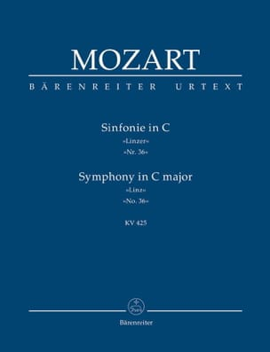 Symphonie Nr. 36 C-dur Linzer KV 425 - Partitur MOZART laflutedepan