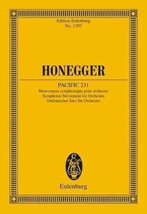 Pacific 231 HONEGGER Partition Petit format - laflutedepan
