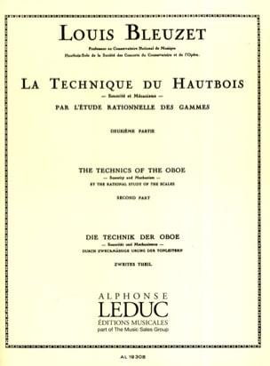 La technique du hautbois - Volume 2 Louis Bleuzet laflutedepan