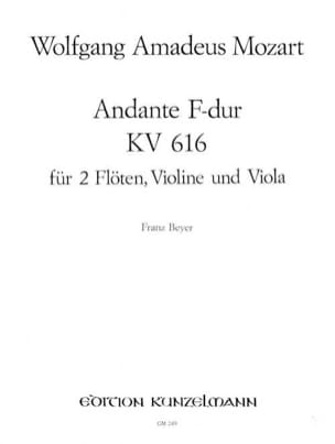 Andante F-Dur KV 616 -2 Flöten Violin Viola MOZART laflutedepan