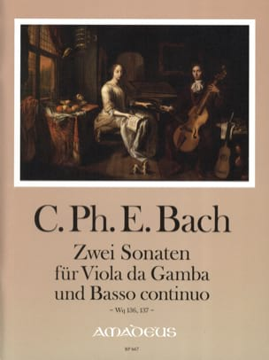 2 Sonaten Für Viola Da Gamba Und B.C. Wq 136, 137 laflutedepan