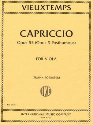 Henri Vieuxtemps - Capriccio, opus 55 - Partition - di-arezzo.es