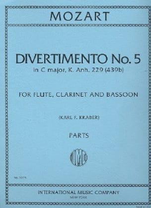Divertimento n° 5 KV 439b in C major -Parts - laflutedepan.com