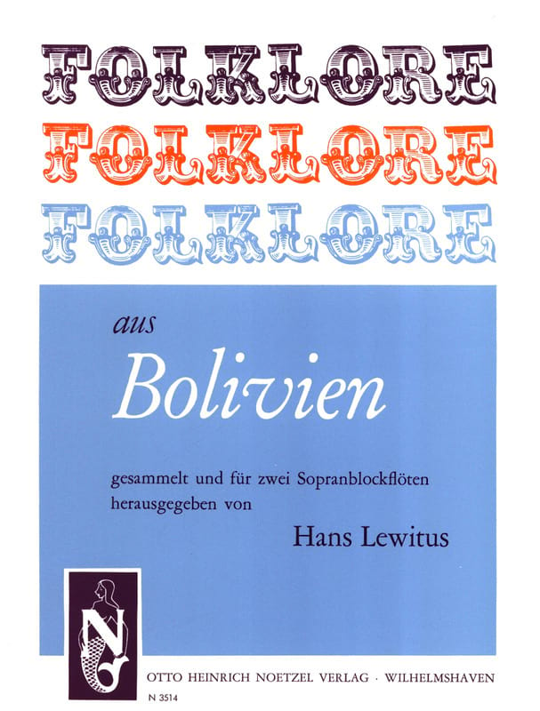 Folklore Aus Bolivien - 2 Flûte A Bec Soprano - laflutedepan.com