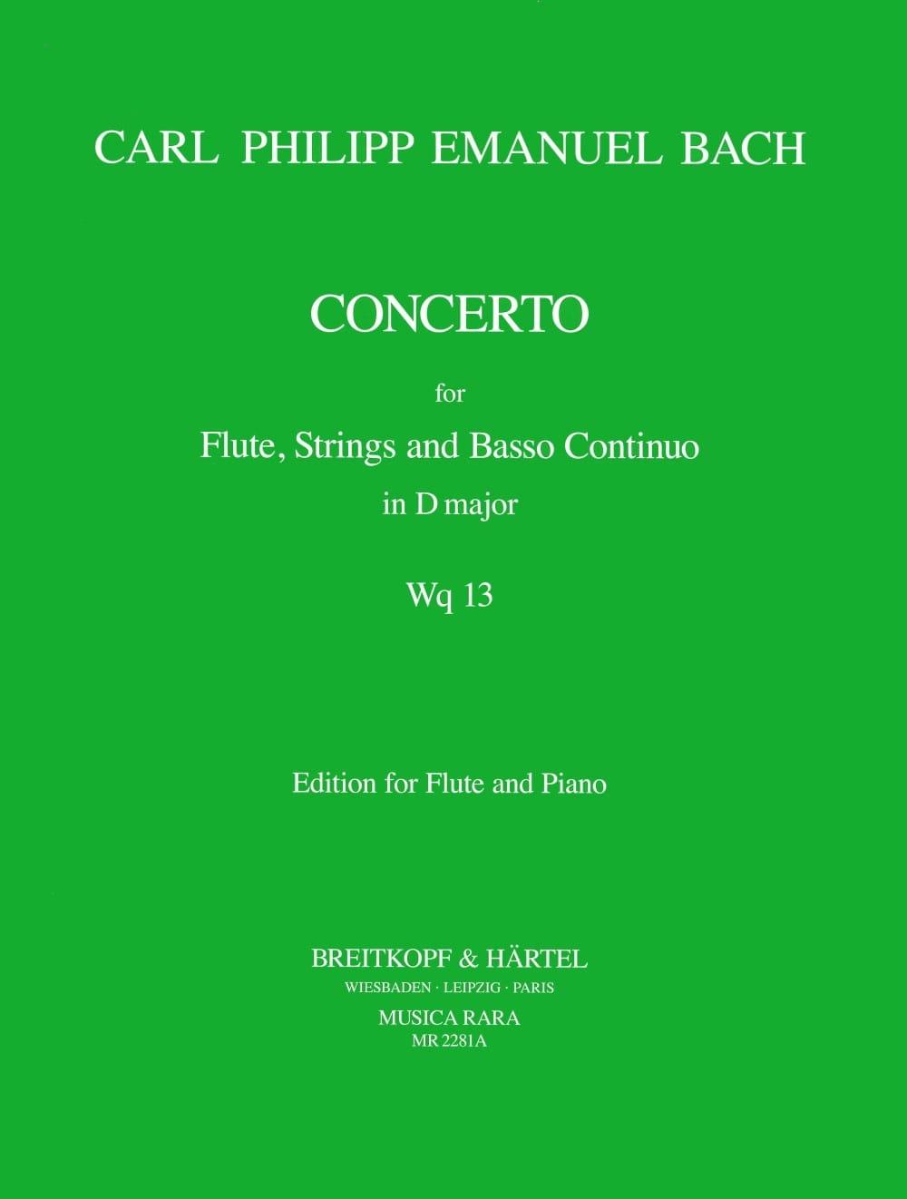 Concerto D Major Wq 13 - Flute Piano - laflutedepan.com
