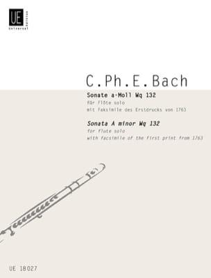 Sonate en la Mineur Wq 132 Carl Philipp Emanuel Bach laflutedepan