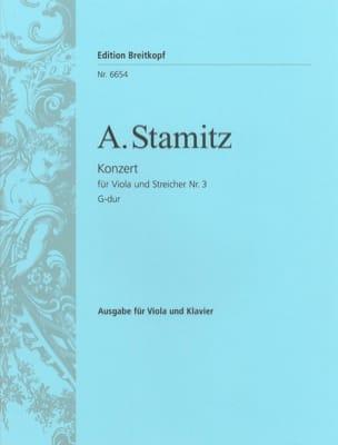Concerto n° 3, G major - Viola STAMITZ Partition Alto - laflutedepan
