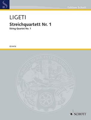 Streichquartett Nr. 1 1953/54 - Stimmen + Partitur LIGETI laflutedepan