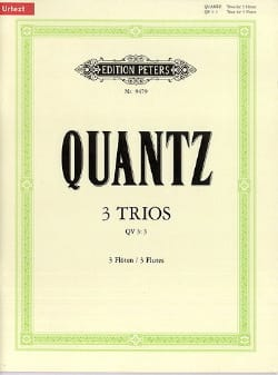 3 Trios QV 3 : 3 - 3 Flöten QUANTZ Partition laflutedepan