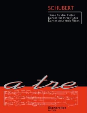 Tänze für drei Flöten SCHUBERT Partition laflutedepan