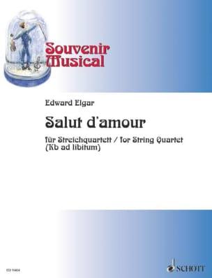 Salut d'amour op. 12 - String quartet ELGAR Partition laflutedepan