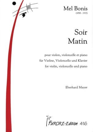 Soir & Matin - Trio violon, violoncelle et piano laflutedepan