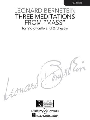 3 Meditations BERNSTEIN Partition Grand format - laflutedepan