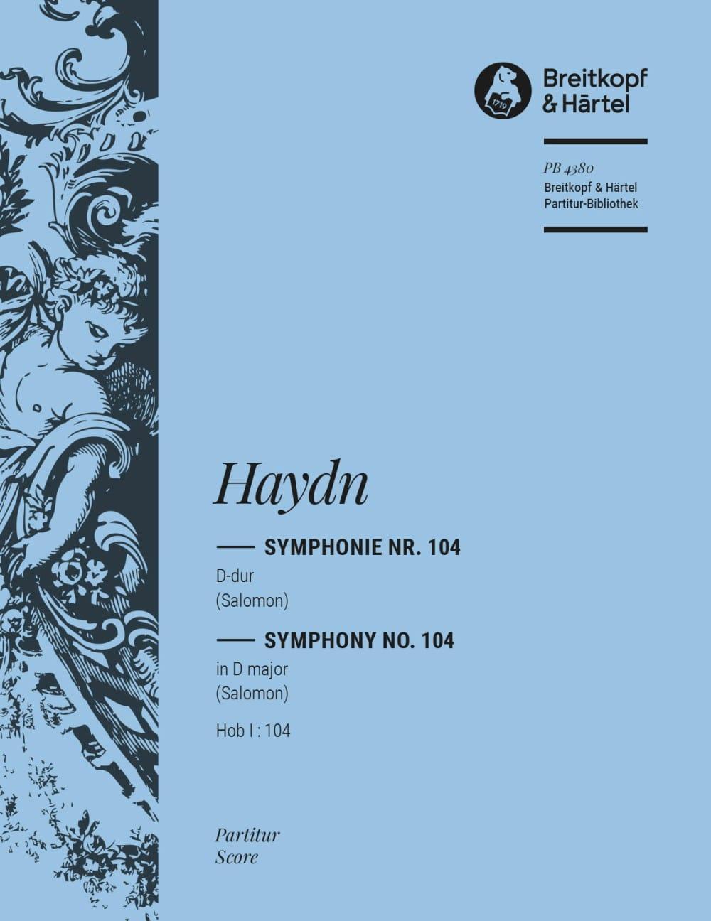 Symphonie D-Dur Hob 1 : 104 - Partitur - HAYDN - laflutedepan.com