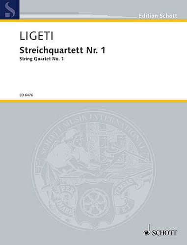 Streichquartett Nr. 1 1953/54 - Stimmen + Partitur - laflutedepan.be