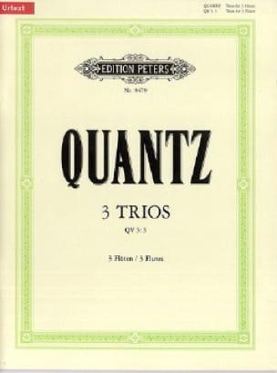 3 Trios QV 3 : 3 - 3 Flöten - QUANTZ - Partition - laflutedepan.com
