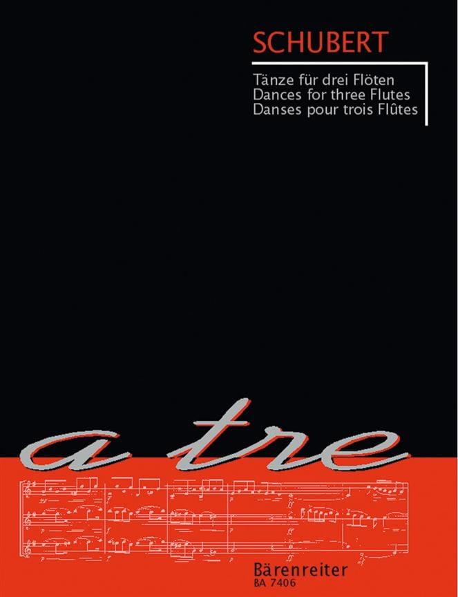 Tänze für drei Flöten - SCHUBERT - Partition - laflutedepan.com