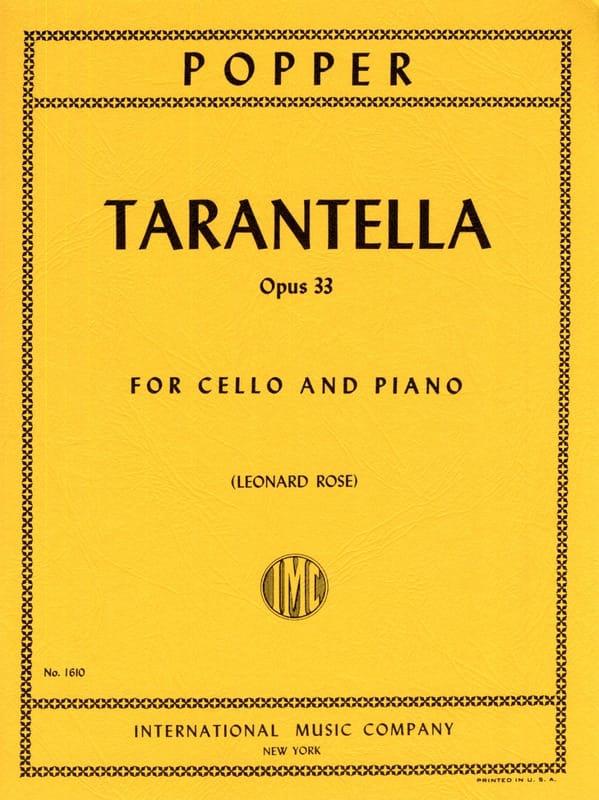 Tarantella op. 33 - David Popper - Partition - laflutedepan.com