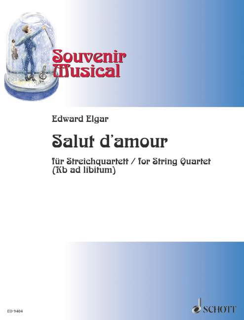 Salut d'amour op. 12 - String quartet - ELGAR - laflutedepan.com