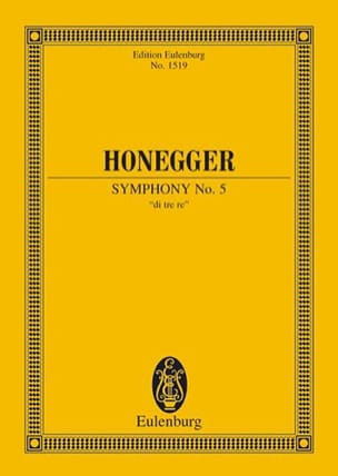 Sinfonie N° 5 HONEGGER Partition Petit format - laflutedepan