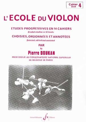 L' Ecole du Violon Volume 4 Pierre Doukan Partition laflutedepan