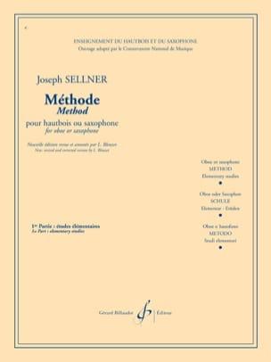 Joseph Sellner - Méthode de hautbois ou saxo - Volume 1 - Partition - di-arezzo.fr